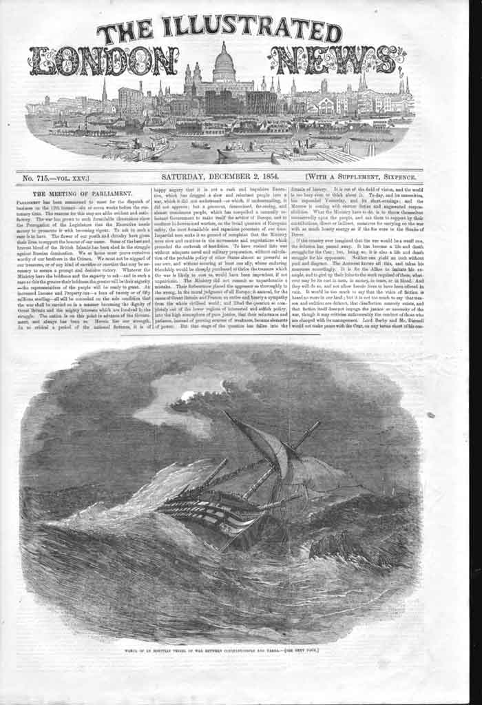 [Print Wreck Egyptian Vessels War Constantinople Var 550A176 Old Original]