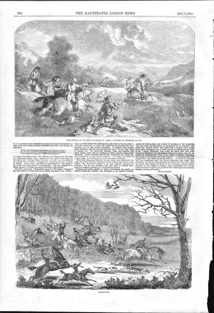 [Print Stag Hunting And Fox Hunting Engravings 1854 59A2A176 Old Original]
