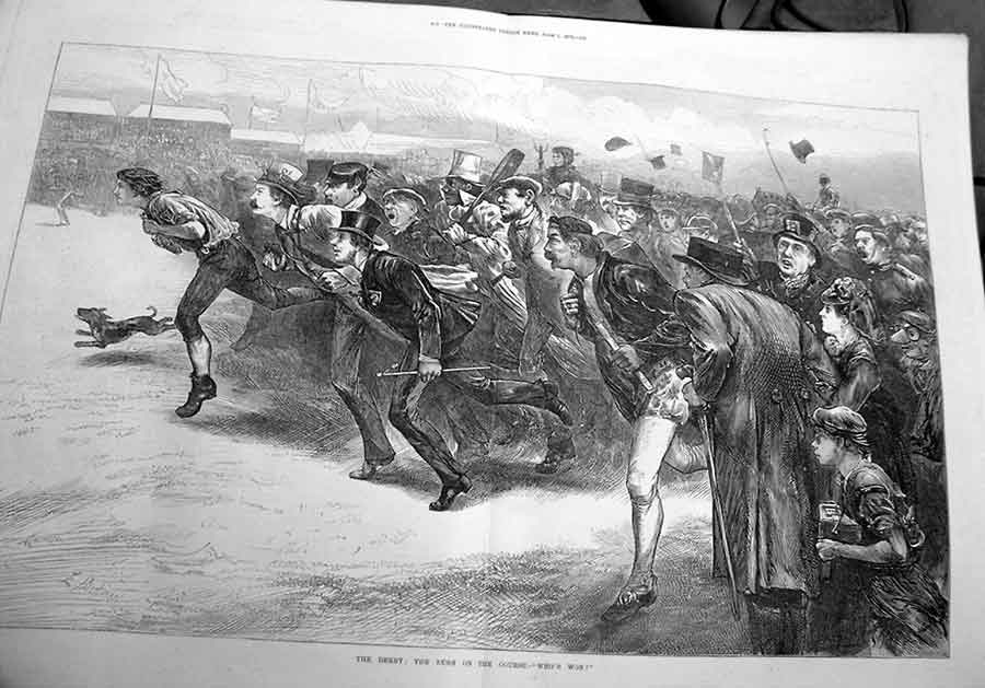 [Print The Derby 1872 Rush Onto Course Who'S Won 25A2A176 Old Original]