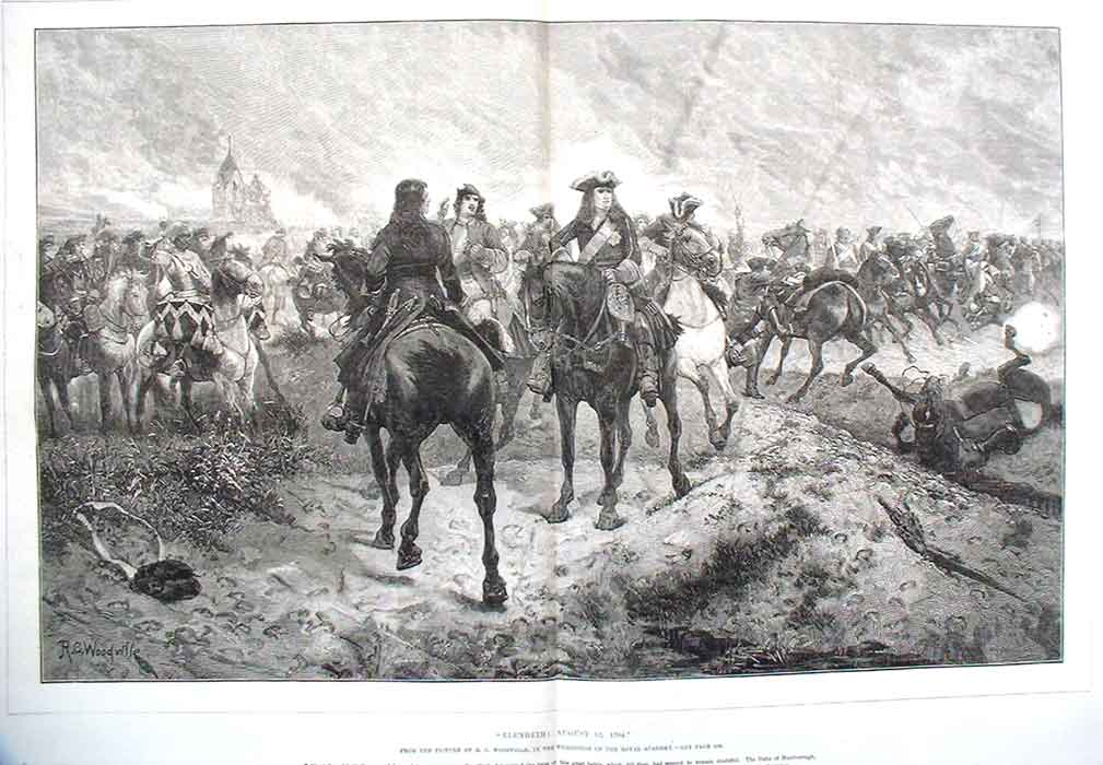 [Print Horses Blenheim Woodville 10A3A176 Old Original]