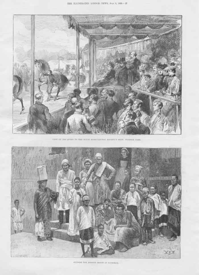 [Print Illustrated London News Queen Royal Show Windsor 0A27A176 Old Original]