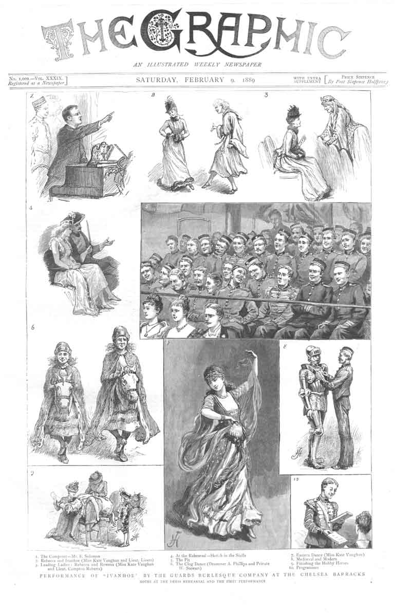 [Old Antique Print Ivanhoe By Guards Burlesque Chelsea Barracks 302161 ]