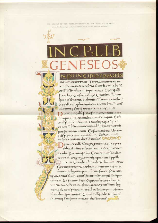 [Print *81 Commencement Book Of Genesis 5081A306 Old Original]