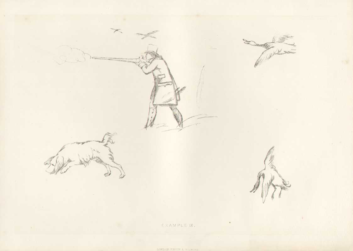 [Print Landseer Works Example 9 Sportsman Spaniel Go 05A3A308 Old Original]