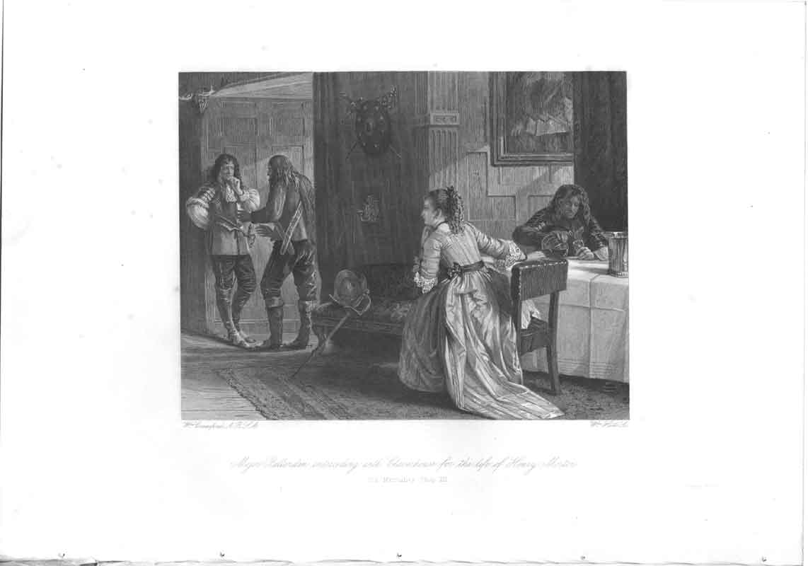 [Print Major Bellenden Fine Art Scotland 1869 010A316 Old Original]