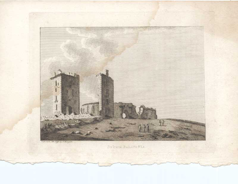 [Print Spynie Palace Pl2 Scottish Antiquities 1790 7900A3A2 Old Original]