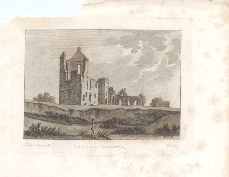 [Print Lincluden College Scottish Antiquities 1790 7900A3A2 Old Original]