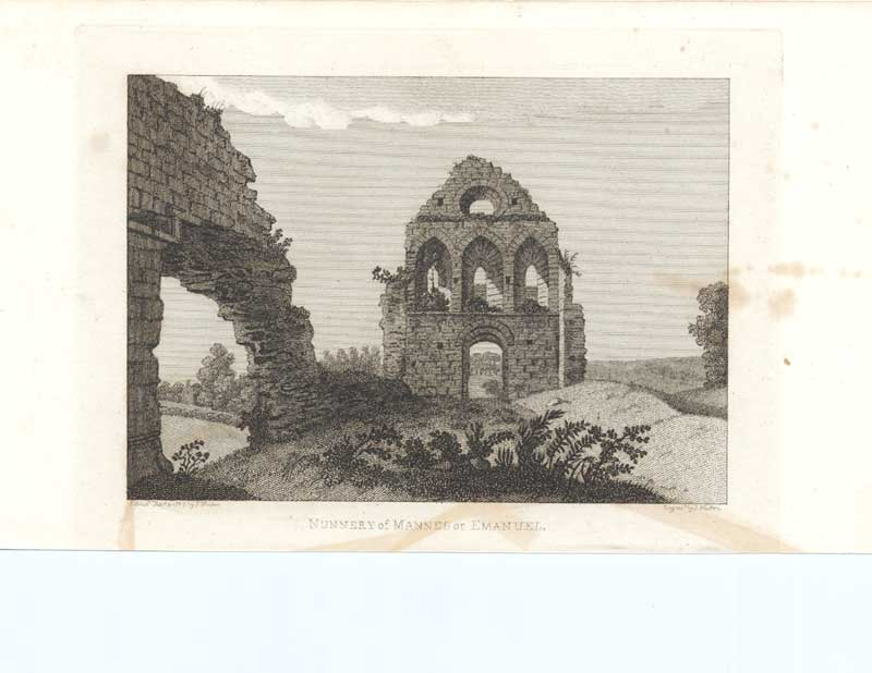 [Print Antiquities Scotland 1790 Nunnery 7900A3A2 Old Original]