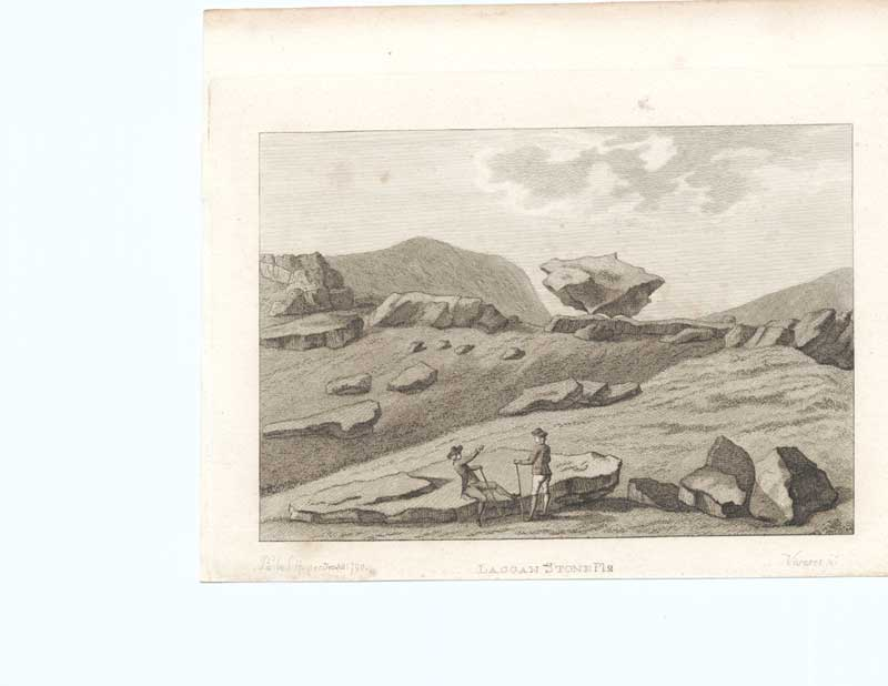 [Print Laggan Stone Antiquities Scotland 1790 7900A3A2 Old Original]