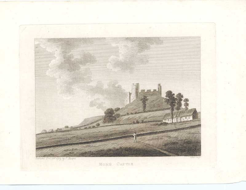 [Print Home Castle Antiquities Scotland 1790 7901A3A2 Old Original]