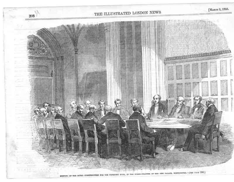 [Print Commissioners Patriotic Fund Westminister A208A376 Old Original]