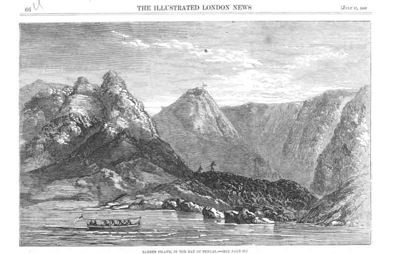 [Print Barren Island Bay Bengal India 066Ua376 Old Original]