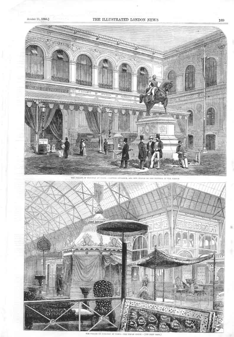 [Print Palacer Industry At Paris 1855 S 169A376 Old Original]