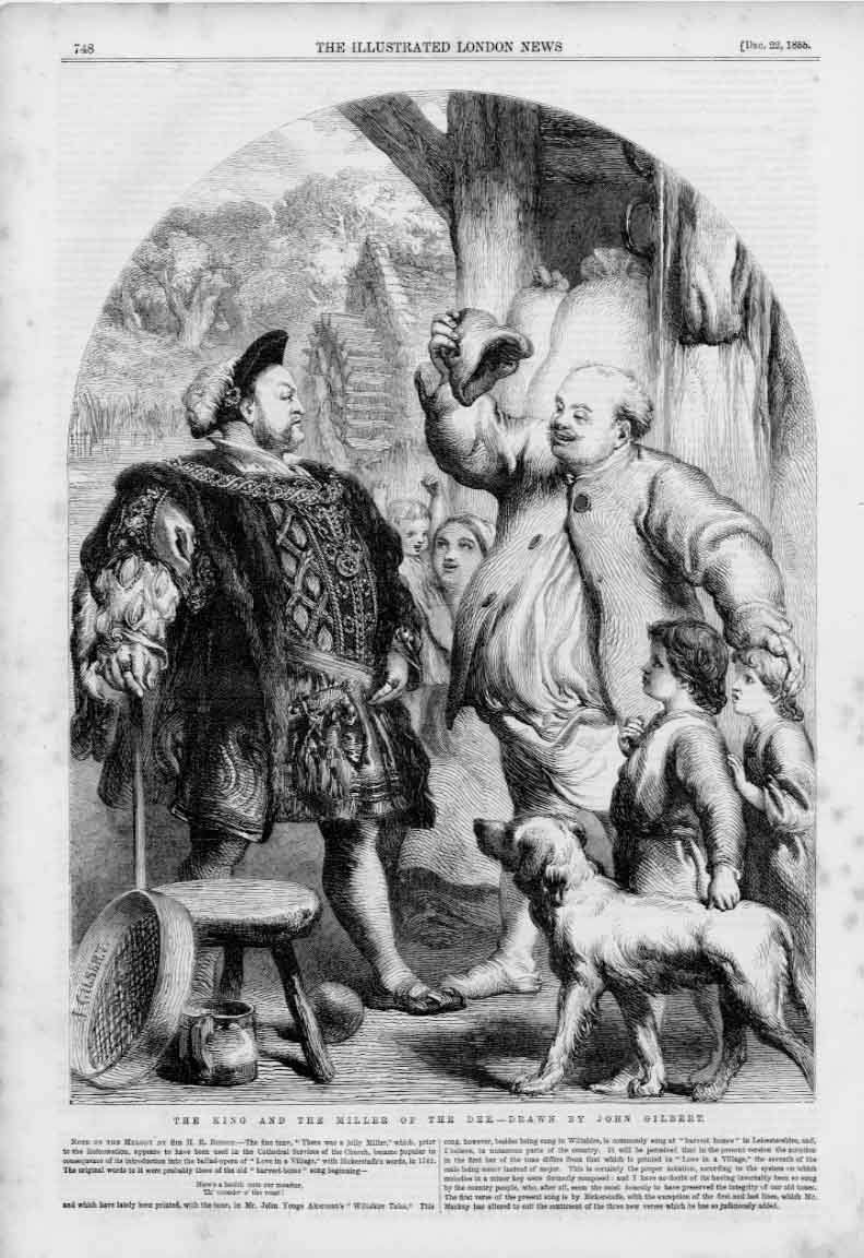 Old Antique Print King & Miller Dee Drawn By Gilbert 1855 748A376