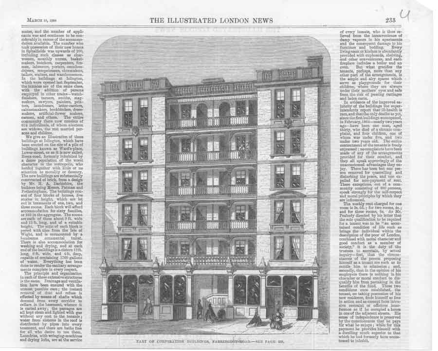 [Print Buildings Faringdon Rd 1866 A2A3A376 Old Original]
