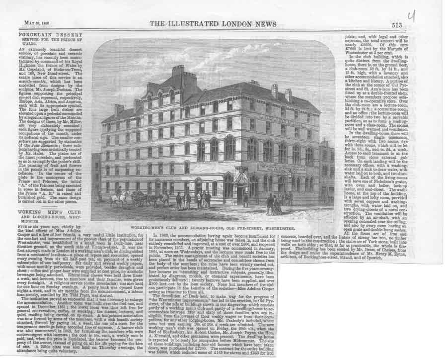 [Print Working Mens Club Pye St Westminister 186 51A3A376 Old Original]