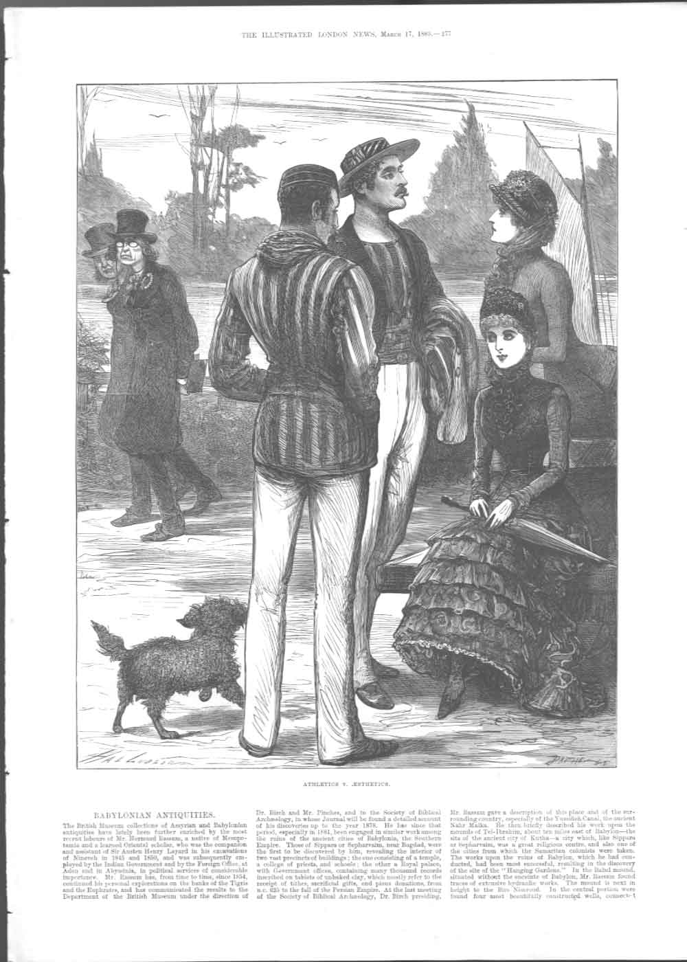 [Print Athletics V. Aesthetics 1883 3A27A376 Old Original]