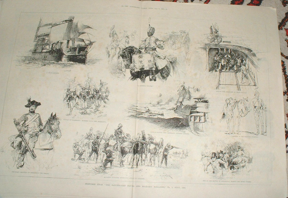 [Print Sketches From Naval Magazine 1884 019Ta376 Old Original]