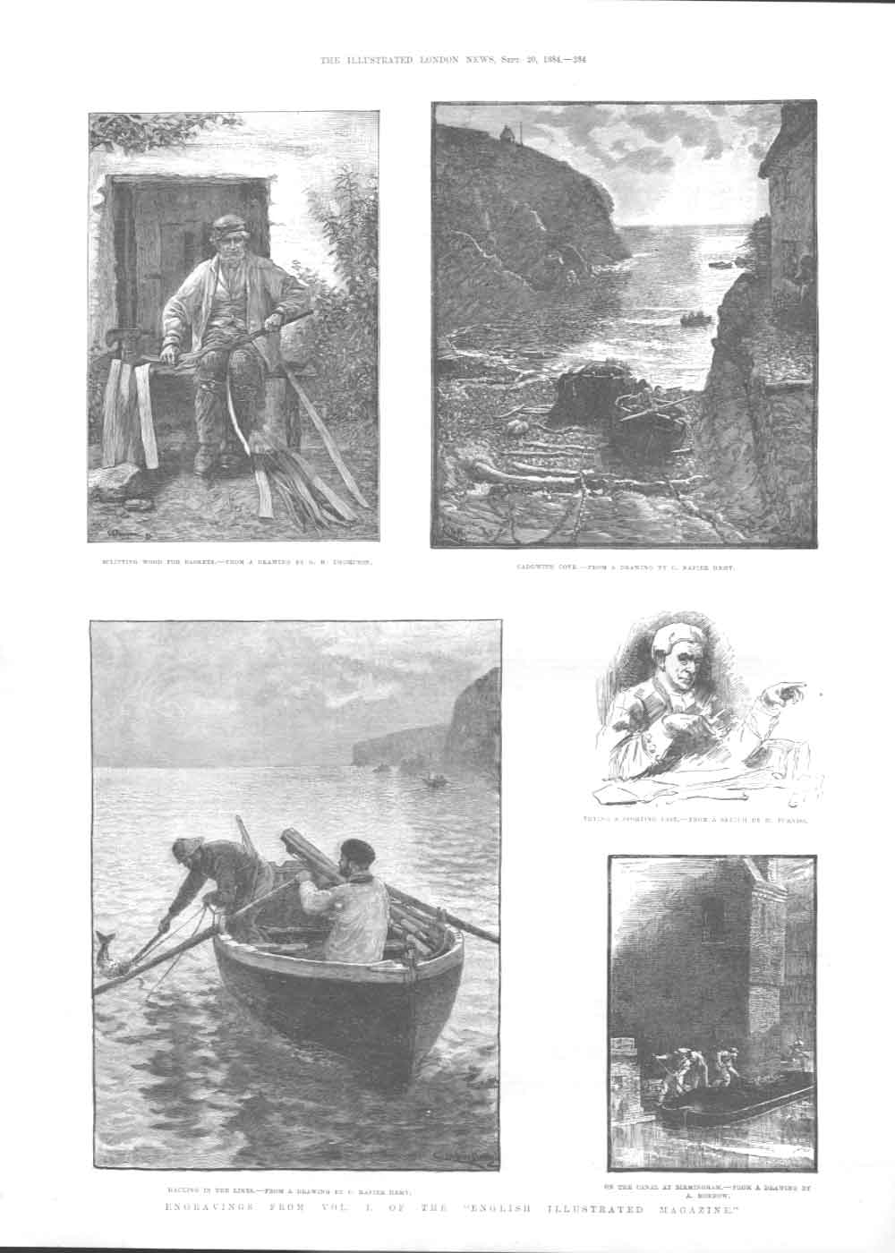 [Print Engravings From Vol 1 English Illustrated Magazine A284A376 Old Original]