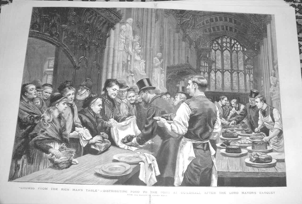 [Print Food For Poor After Lord Mayors Banquet 1883 3A47A416 Old Original]