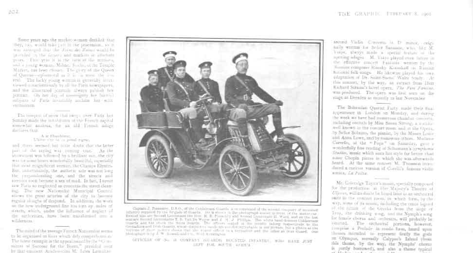 [Print Officers Guards Motorised For S Africa 1902 2A20A416 Old Original]