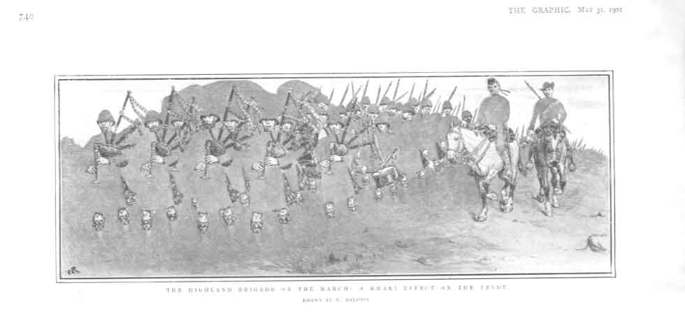[Print Highland Brigade On March Africa Kaki Camoflage 1902 2740A416 Old Original]