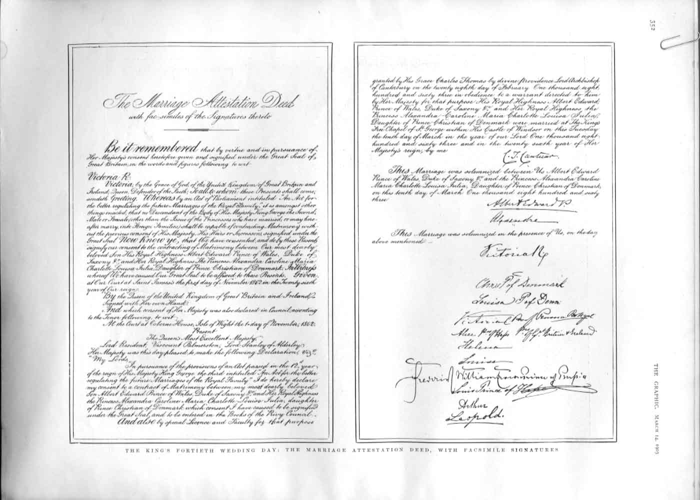 [Print King'S 40Th Wedding Day Marriage Attestation Deed 1902 3A35A416 Old Original]