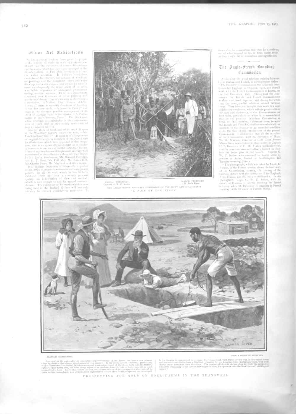 [Print Prospecting For Gboer Farm Transvaal Africa 1903 3786A416 Old Original]