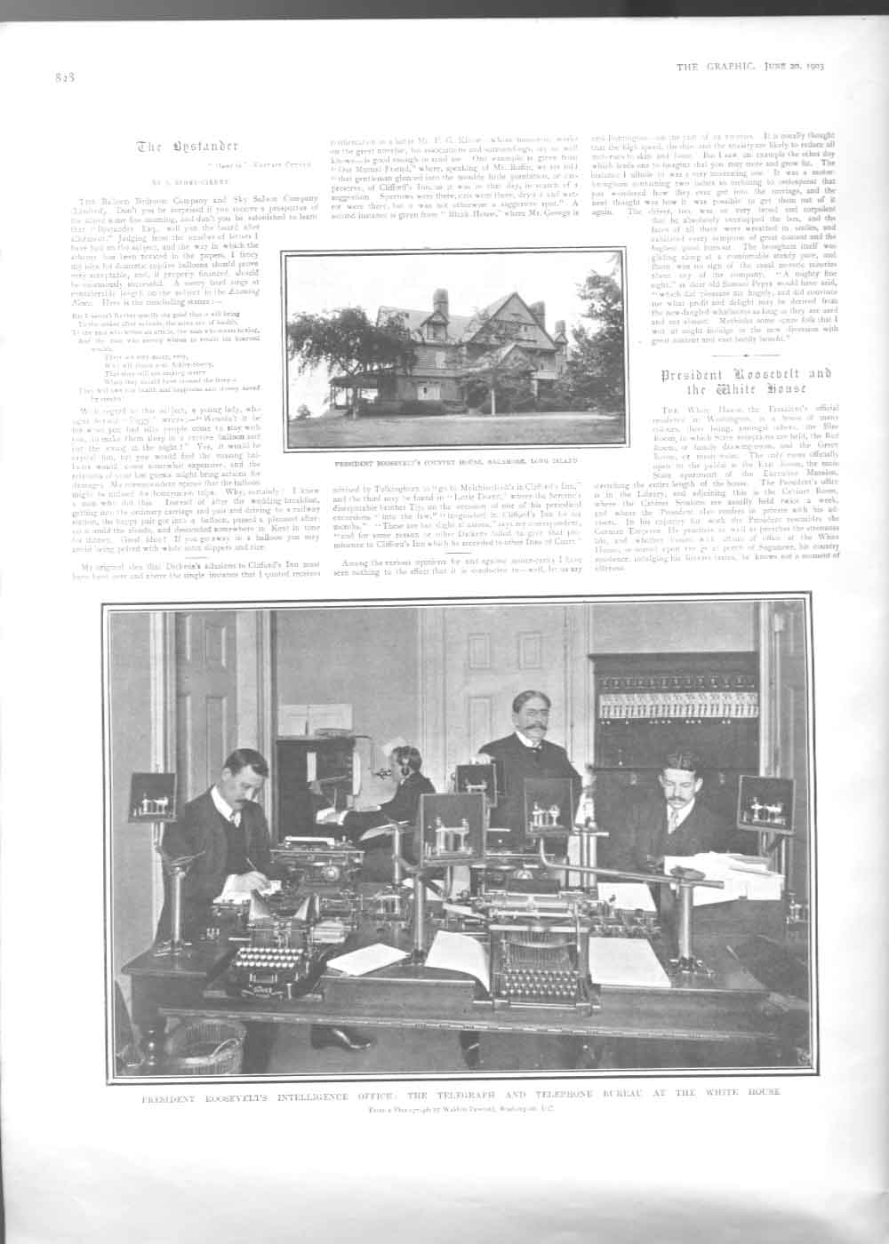 [Print Presidents Rooseveldts Intelligent Room At White House 38A2A416 Old Original]