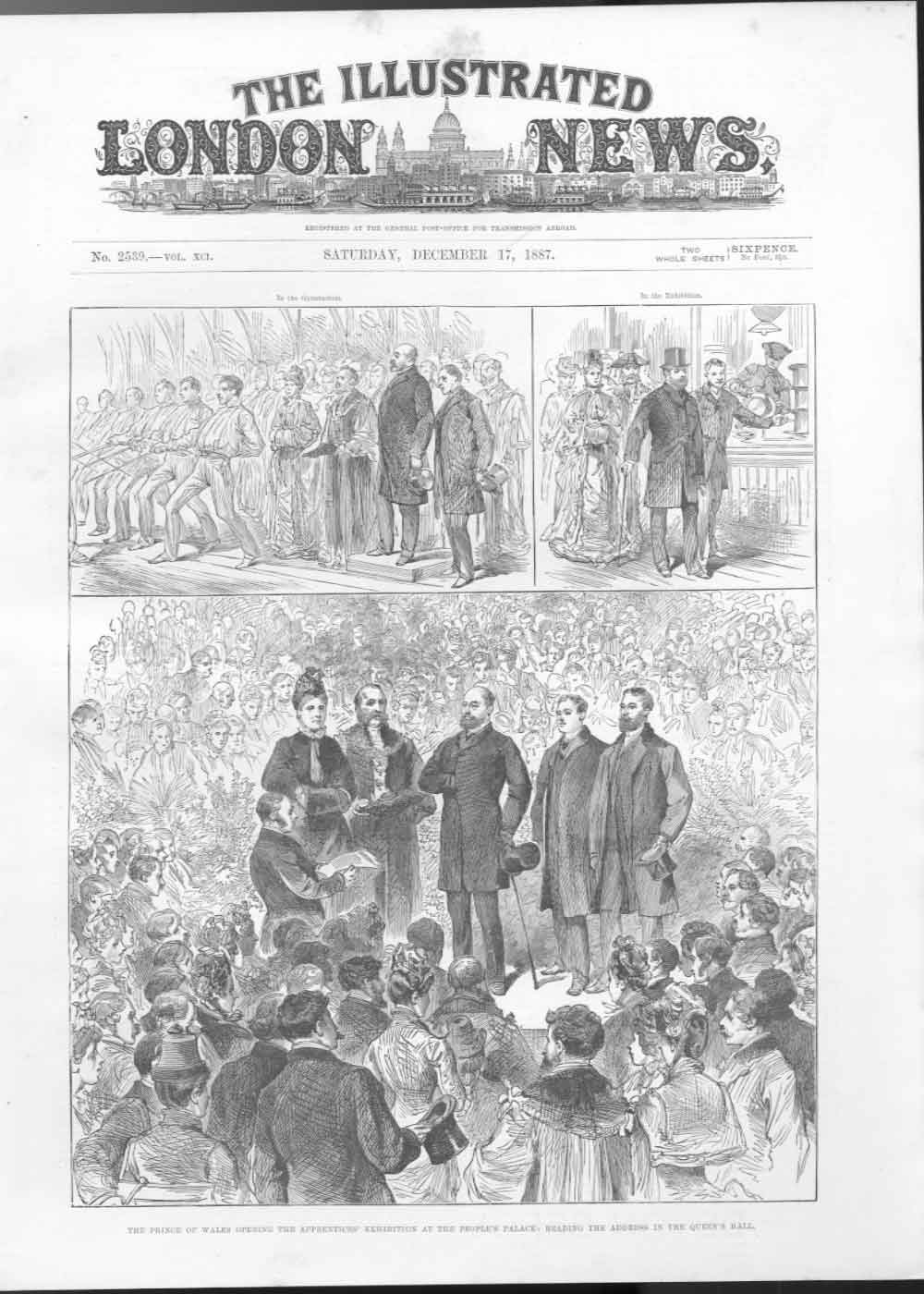 [Print Apprentices Exhibit Peoples Palace 1887 700A476 Old Original]