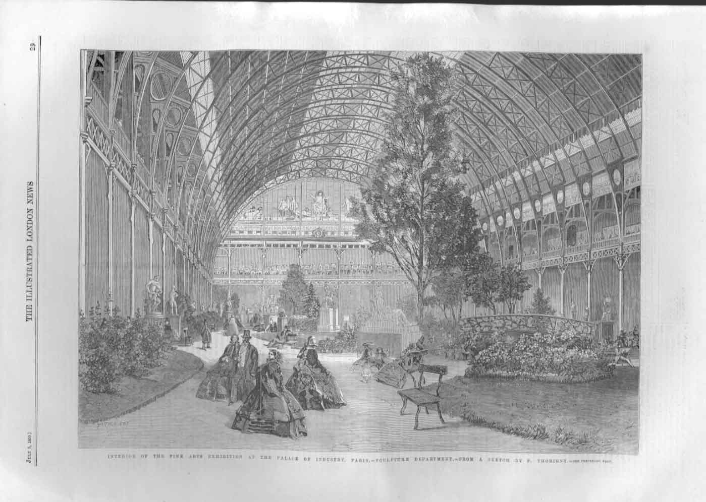 [Print Interior Palace Industry Paris France 0A29A476 Old Original]