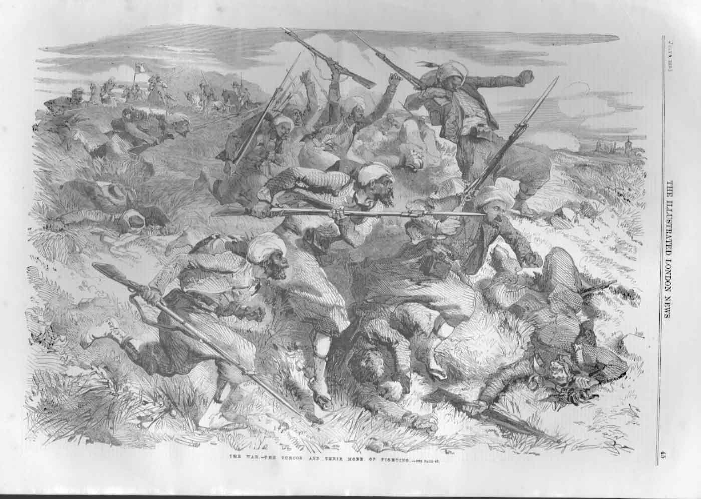 [Print The Turcos Mode Fighting War In Italy 1859 045A476 Old Original]