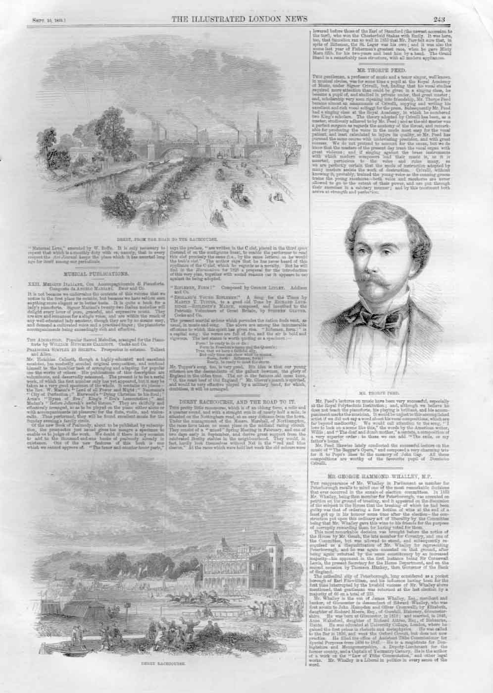 [Print 1859 Derby Day Horse Racing A24Aa476 Old Original]