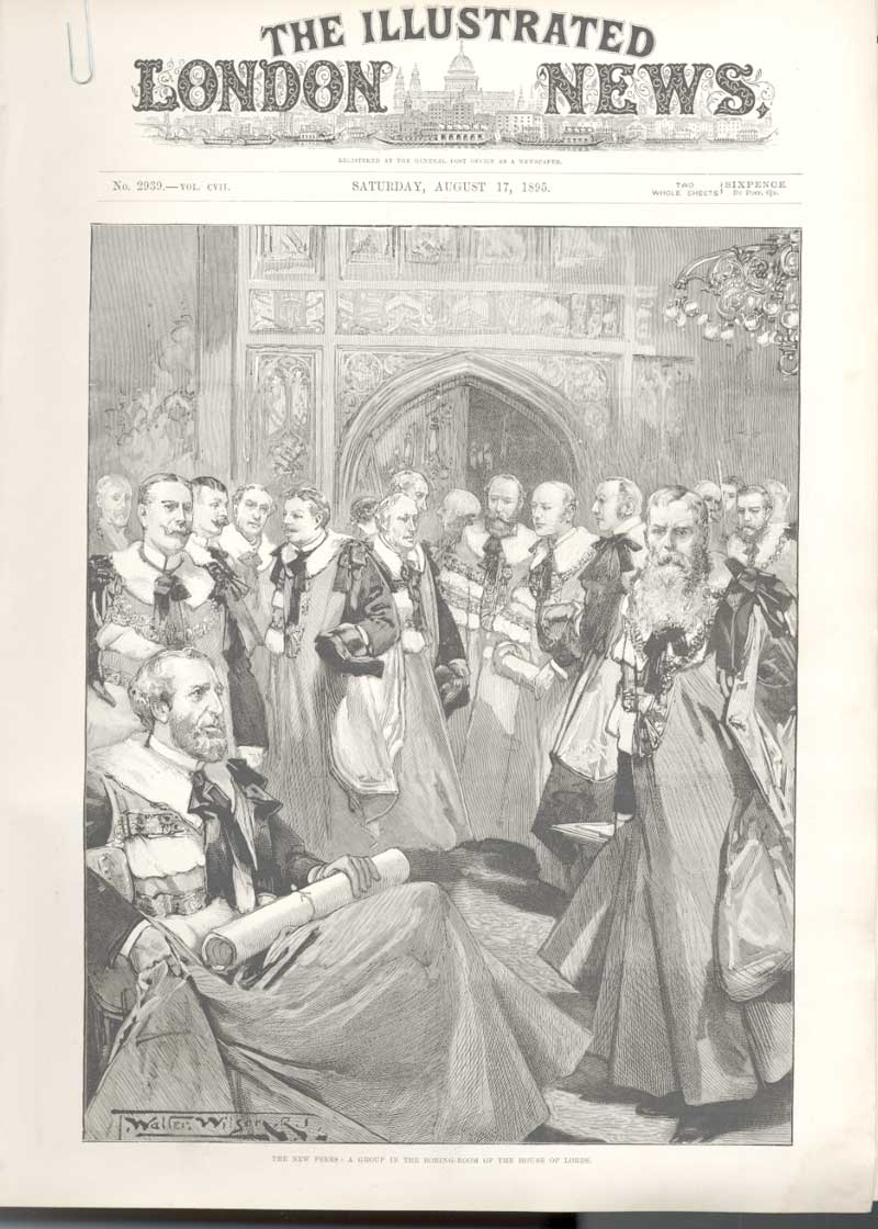 [Print Peers In Robing Room House Lords Political Crisis 1895 194Aa476 Old Original]