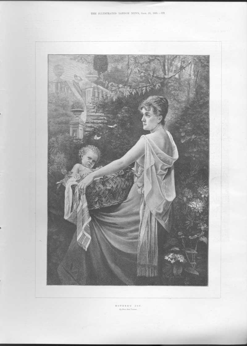 [Print A Baby A Mothers Joy By Veroni Fine Art A37Aa476 Old Original]