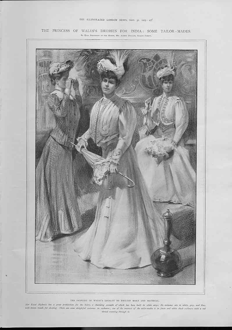 [Print Princess Wales New Dresses For India 1905 457A476 Old Original]