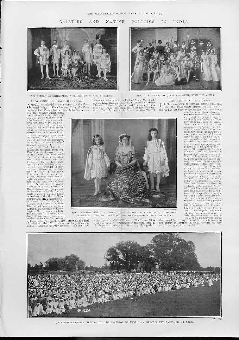 [Print Gaieties & Native Politics India 1905 7A27A476 Old Original]