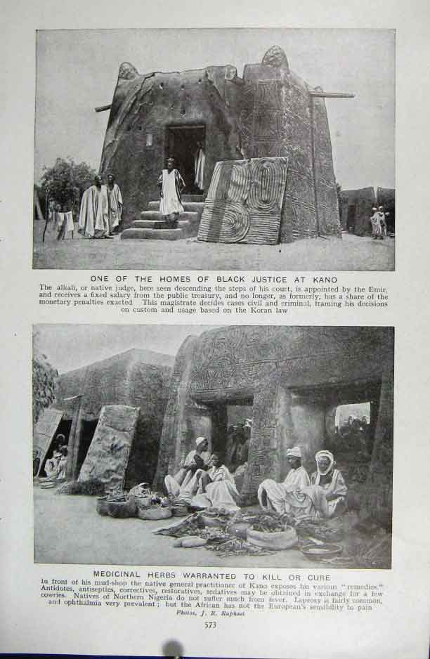 [Print Home Black Justice Kano 1922 Photo Africa 73A5331 Old Original]