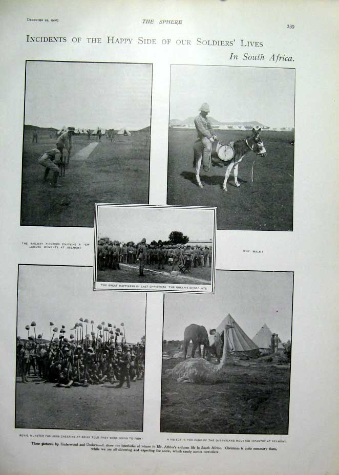 [Print Happy Side Soldiers Lives In South Africa 1900 395401 Old Original]