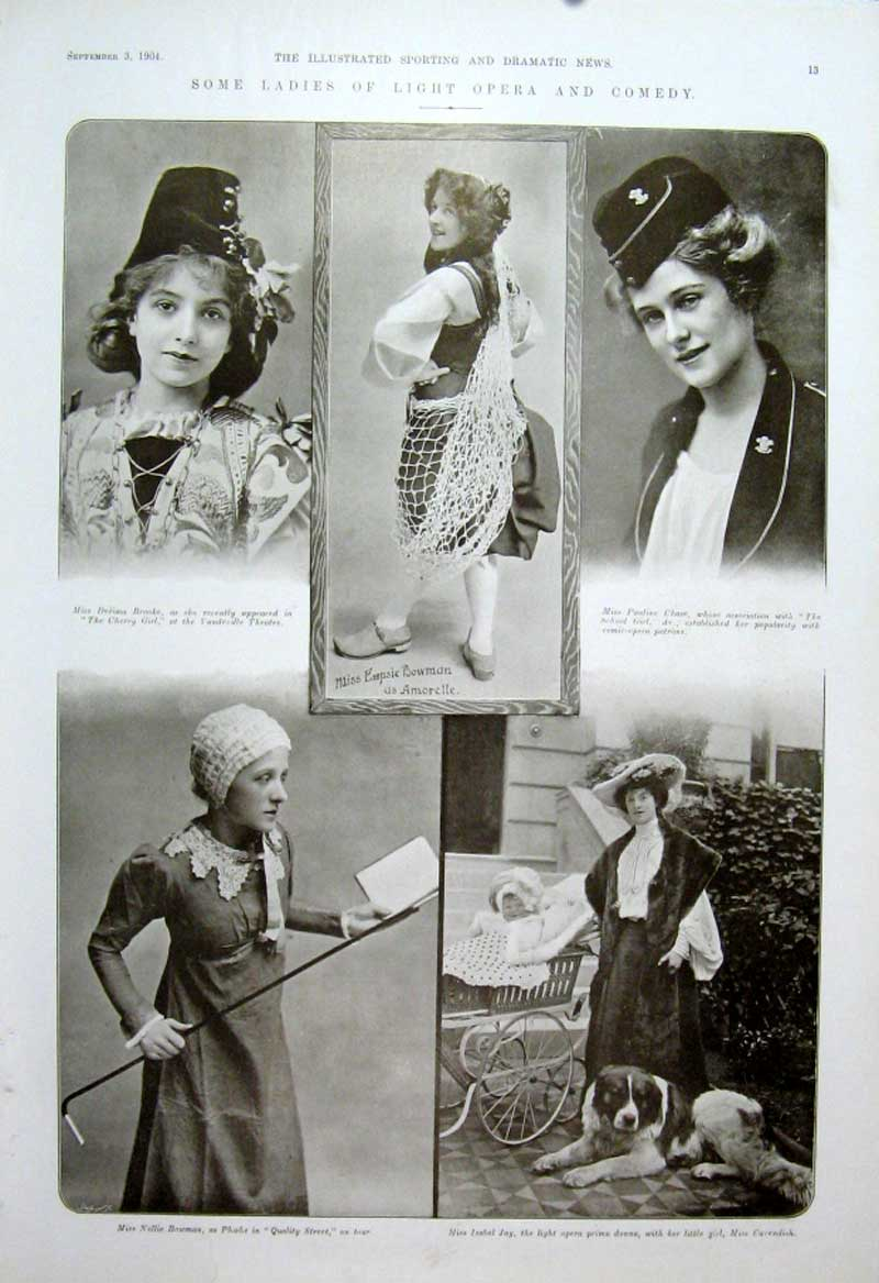 [Print Some Ladies Light Opera & Comedy 1904 Theatre 135601 Old Original]