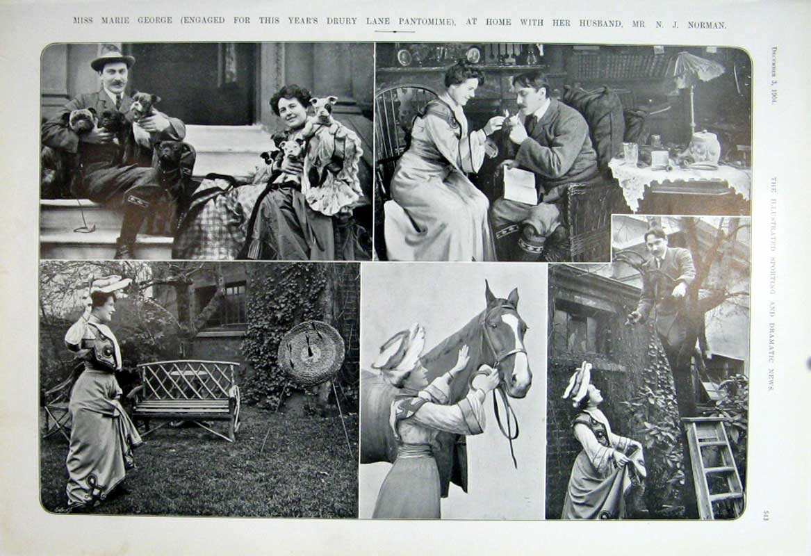 [Print Miss Marie George At Home 1904 Theatre Actres 435601 Old Original]