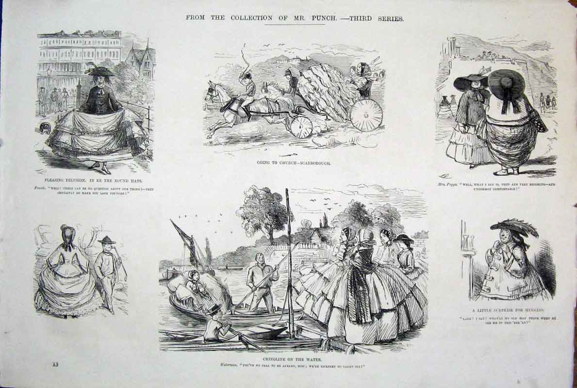 [Print  Life & Character By John Leech Mr Punch *3 135701 Old Original]