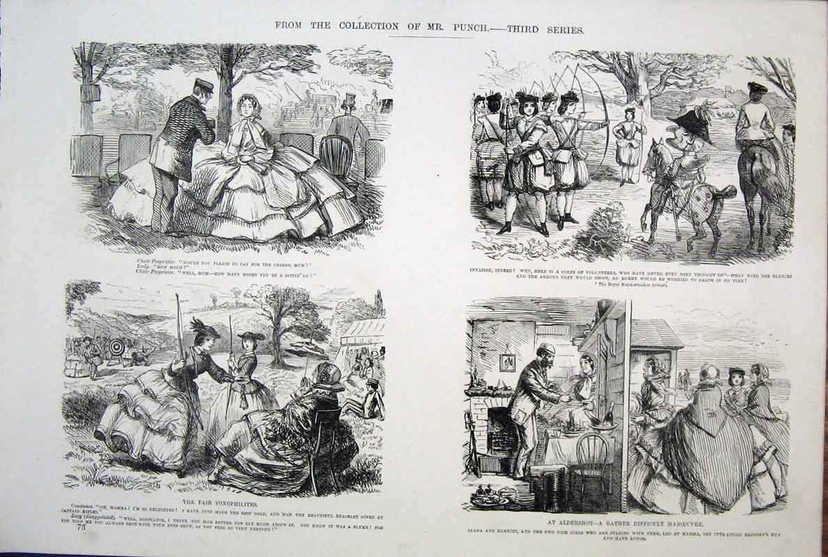 [Print  Life & Character By John Leech Mr Punch *12 755701 Old Original]