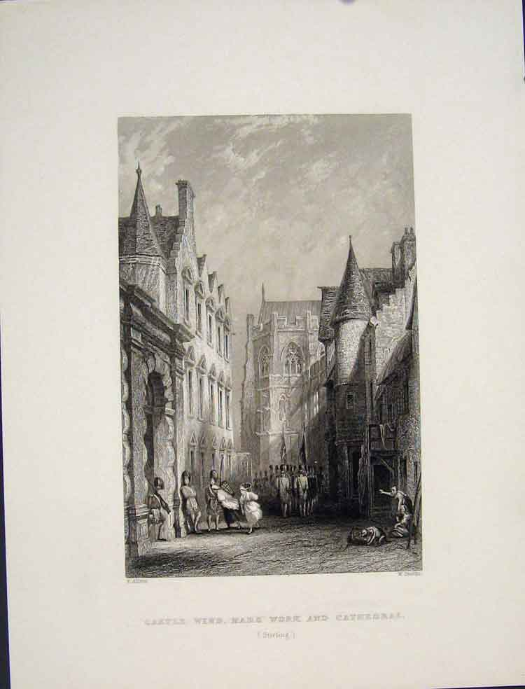 [Print Castle Wind Mars Work Cathedral Scotland 535821 Old Original]