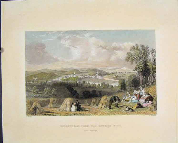 [Print Coldstream English Side Berwickshire Colour Fine Art 845831 Old Original]