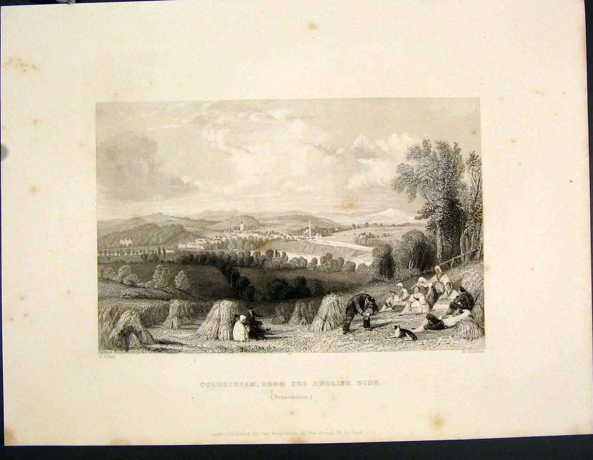 [Print Coldstream English Side Berwickshire Scotland 285841 Old Original]