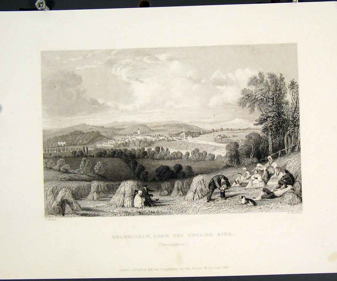 [Print Coldstream English Side Berwichshire Art 595841 Old Original]
