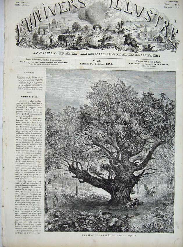 [Print Cerisy Forest Woods French France 1858 705861 Old Original]