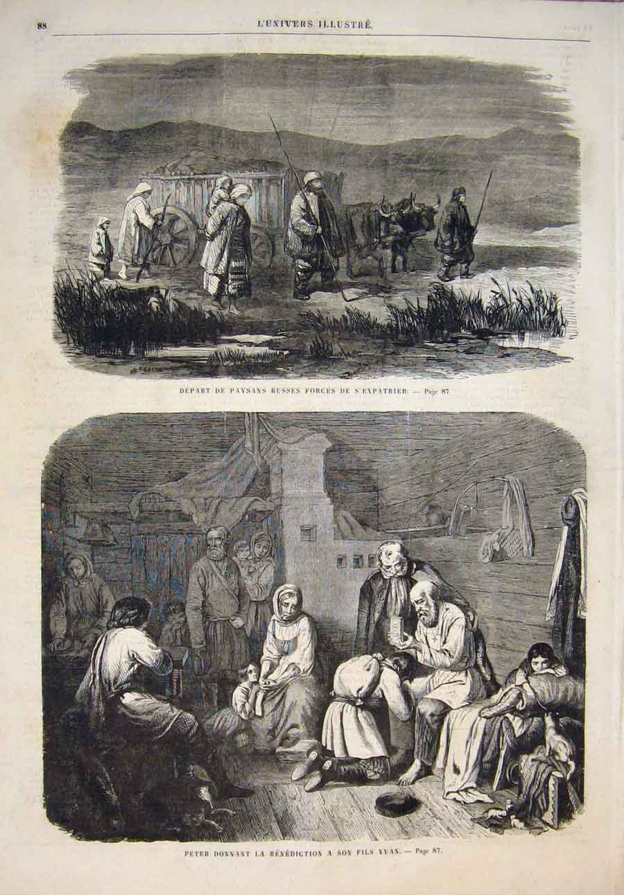 [Print Russian Army Russia Ivan Peter Benediction 1859 885861 Old Original]