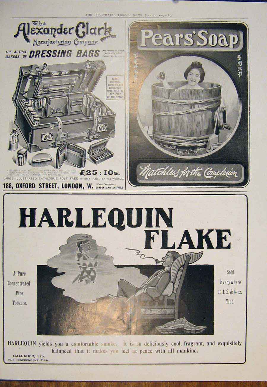 [Print Advert Alexandra Clark Pear'S Soap Harlequiin Tobacco 855871 Old Original]